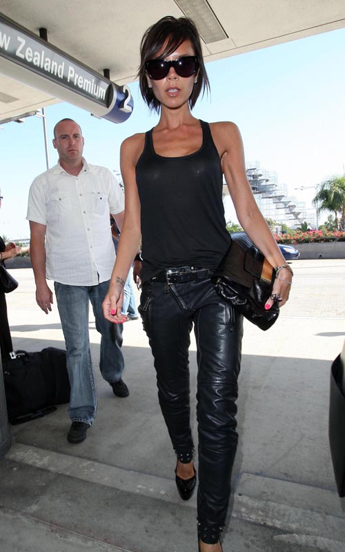 Victoria Beckham Back In L.A. Photo:FlynetOnline.com