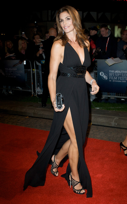 Cindy Crawford Attends Fantastic Mr. Fox. Photo: FamePictures.com
