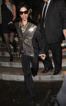 Prince Attends Yves Saint Laurent Fashion Show Photo: Flynetonline.com