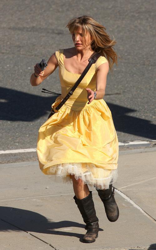 Cameron Diaz On Set. Photo: SplashNewsOnline.com