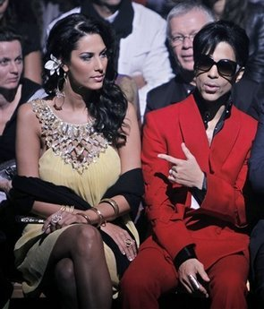 Prince & Bria Valente Attend John Galliano's Fashion Show. Photo:AP Photo/Thibault Camus