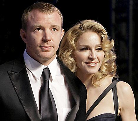 Guy Richie & Madonna.  File Photo