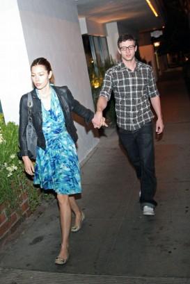 Jessica Biel & Justin Timberlake September 30th, 2009  Photo: SplashNewsOnline.com