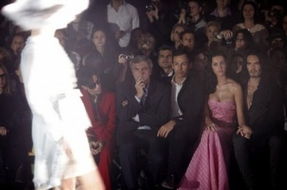 Katy Perry, Russell Brand & Prince Attend Galliano Fashion Show. Photo: APimages.com/Thibault Camus