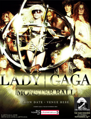 Lady Gaga Monster Ball Tour Poster