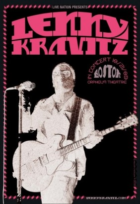 Lenny Kravitz Boston Poster; Image Provided By Mathieu Bitton