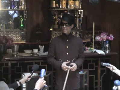 Prince takes questions from reporters in Paris. Oct. 12, 2009