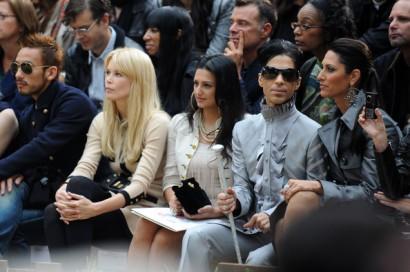 Prince Attends Chanel Fashion Show With Bria Valente. Photo: Flynetonline.com