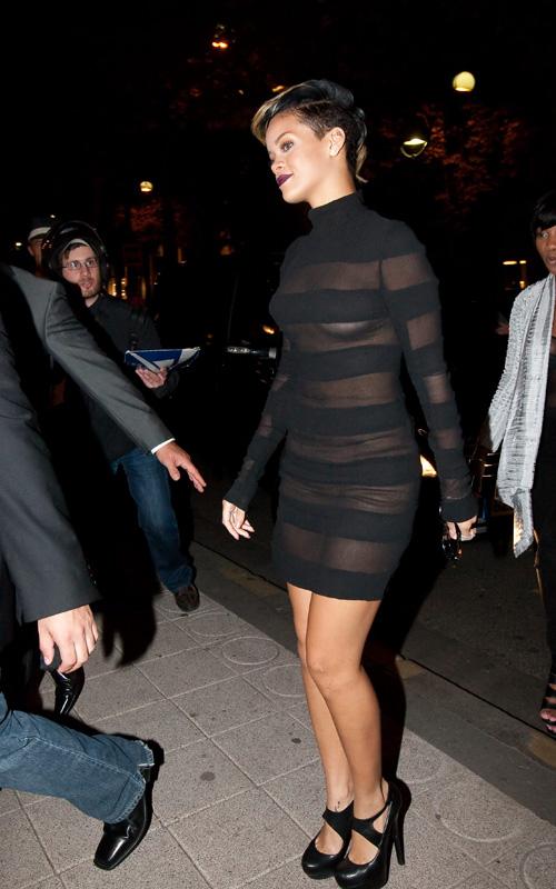 Rihanna At Paris Fashion Week.  Photo: INFDaily.com