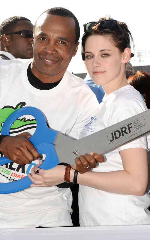 Kristen Stewart & Sugar Ray Leonard. Photo: SplashNewsOnline.com