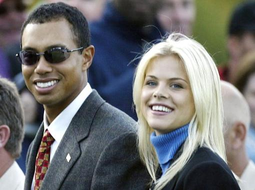 Tiger Woods & Elin Nordegren. File Photo