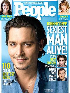 Johnny Depp.  The Sexiest Man Alive.  Photo: People.com