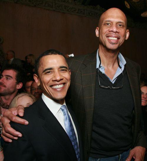 Kareem Abdul-Jabbar & President Obama.  Photo: L.A.Times.com