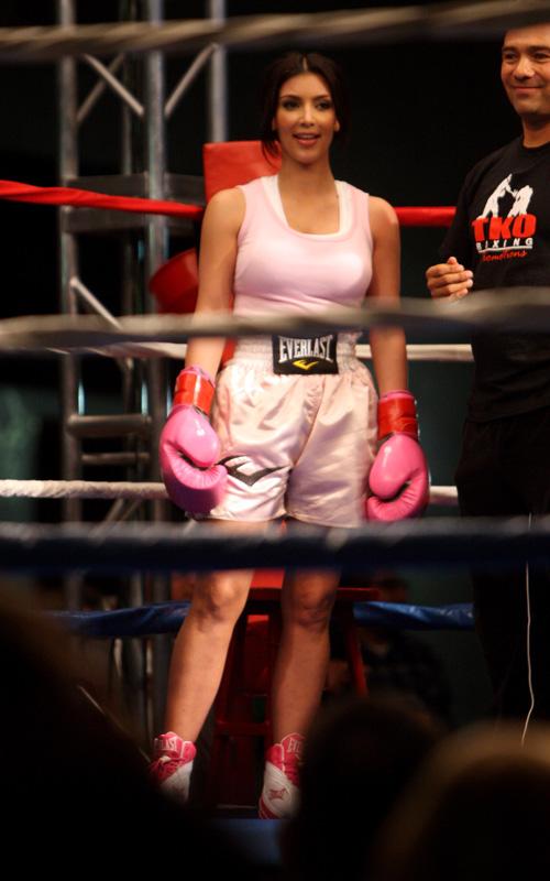 Kim Kardashian Boxing