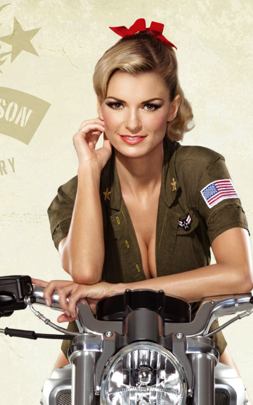 Marisa Miller. Photo: Harley Davidson