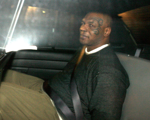 Mike Tyson In Cop Car.  Photo: SplashNewsOnline.com
