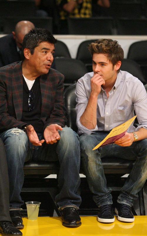 Zac Efron & George Lopez. Photo: SplashNewsOnline.com