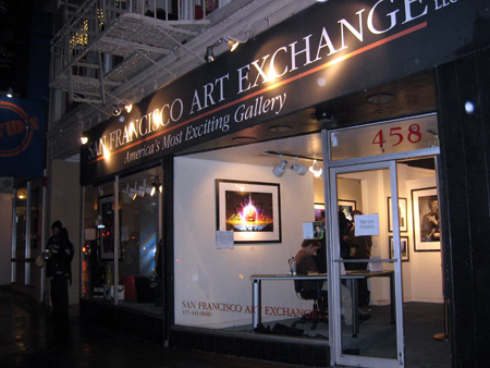The SF Art Exchange. That's the Lotusflow3r print in the window.