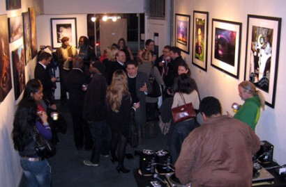 "The crowd at the opening of ""Art of Prince"""