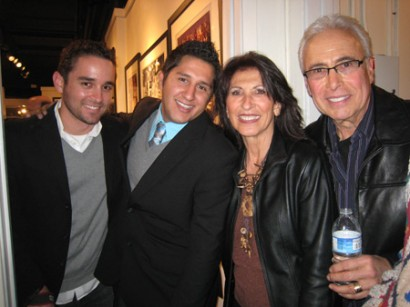 Artist Anthony Malzone with his roommate, Mom and Stepdad