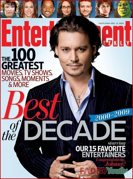 Johnny Depp. Entertainment Weekly Cover