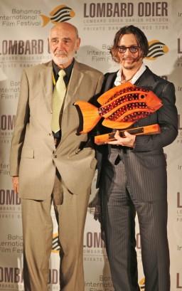 Sean Connery & Johnny Depp.  Photo: SplashNewsOnline.com