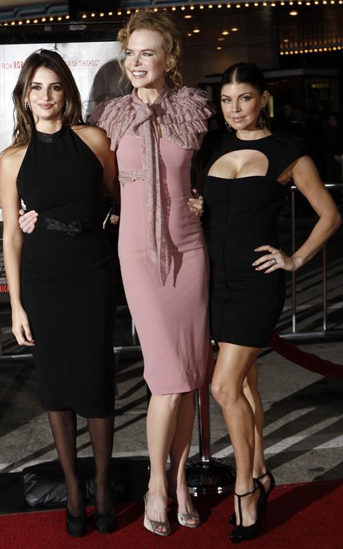 Penelope Cruz, Nicole Kidman & Fergie.  Photo: AP Photo/Matt Sayles