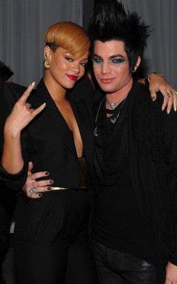 Rihanna & Adam Lambert.  Photo: GettyImages.com