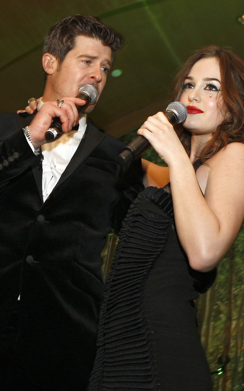 Robin Thicke & Leighton Meester.  Photo: GettyImages.com