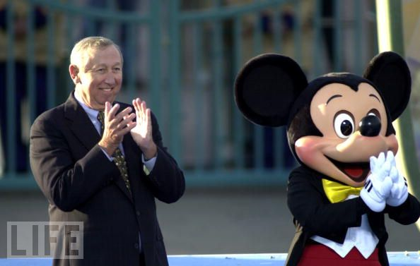 Roy E. Disney & Mickey Mouse.  Photo: Life.com