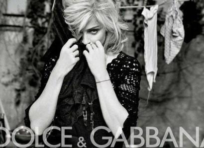Madonna.  Photo DolceGabbana.com