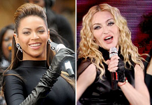 Beyonce & Madonna.  Photo: TVguide.com