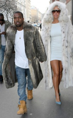 Kanye West & Amber Rose.  Photo: FamePictures.com