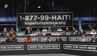 ENTERTAINMENT-US-QUAKE-HAITI-CELEBRITIES