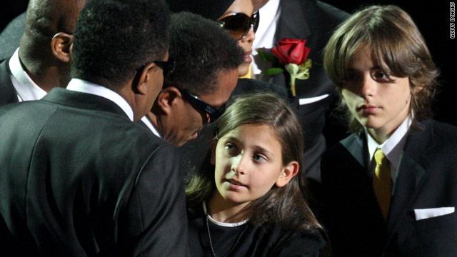 Michael Jackson's children Paris and Prince Michael