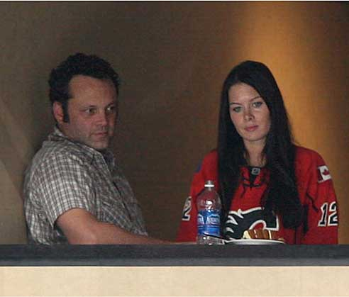 Vince Vaughn & Kyla Weber. Photo: LATimesblog.com