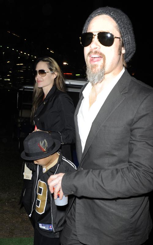 Brad Pitt & Angelina Jolie & Maddox.