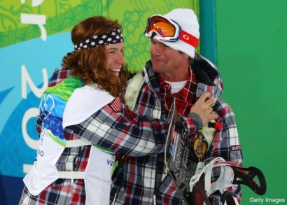 Shaun White and coach Bud Keene