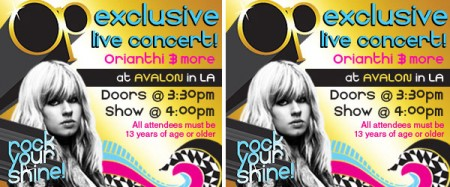 Orianthi concert