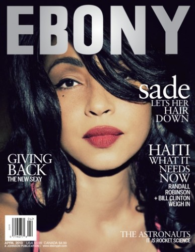 Sade Ebony Cover. Photo: Ebony Magazine