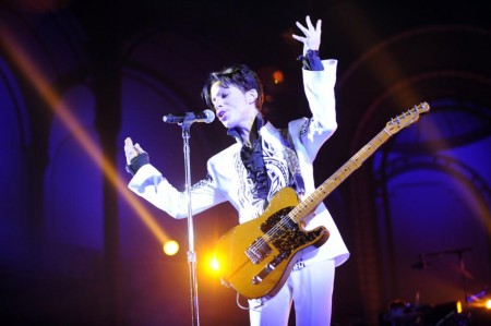 Prince performs in Paris, France. October, 2009.