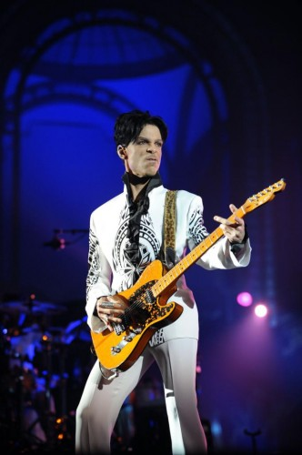 Prince performs at Grand Palais in Paris, Oct. 2009