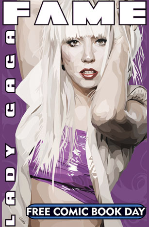 Lady Gaga Comic Book Cover. Photo: Bluewater Productions