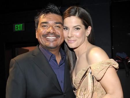 George Lopez & Sandra Bullock File Photo: Michael Buckner/Getty Images