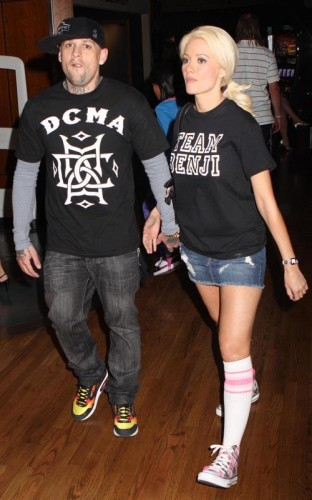 Benji Madden & Holly Madison.