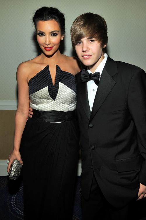 Kim Kardashian & Justin Bieber. Photo: SplashNewsOnline.com