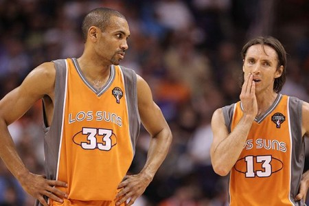 Los Suns. Grant Hill &amp; Steve Nash. Photo: Christian Petersen/Getty Images