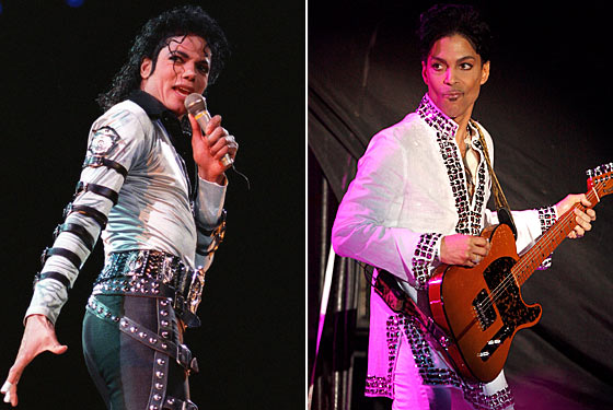 Michael Jackson & Prince. Photos: NYMag.com & Gettyimages.com