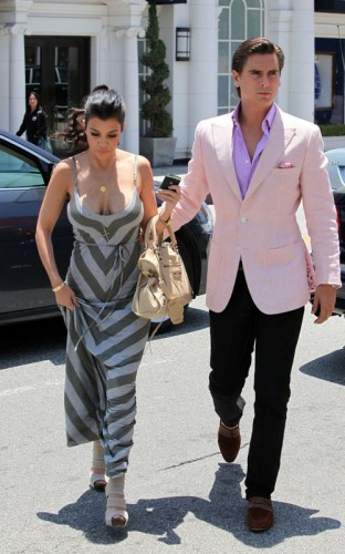 Kourtney Kardashian & Scott Disick. Photo: Ginsburgspaly