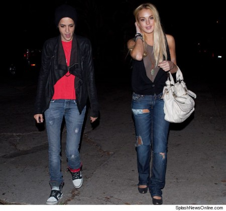 Lindsay Lohan Sam splashnewsonline.com